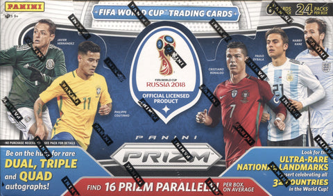 2018 Panini Prizm World Cup Hobby Soccer, Box