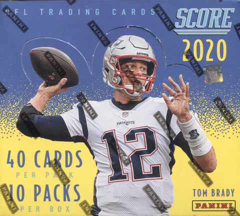2020 Panini Score Hobby Football, Box w/2 PROMO PACKS