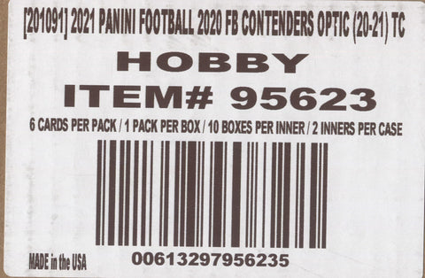 2020 Panini Contenders Optic Football, 20 Box Master Case