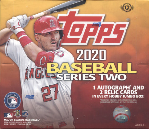 2020 Topps Series 2 Jumbo Baseball, Box