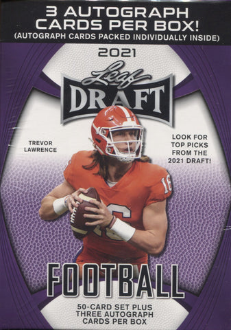 2021 Leaf Draft Football,Hobby Blaster Box