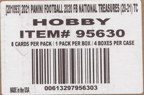 2020 Panini National Treasures Football, 4 Box Case