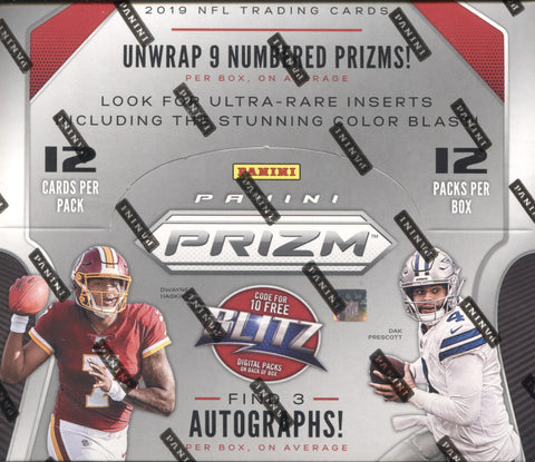 2019 Panini Prizm Hobby Football, Box