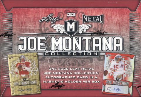 2020 Leaf Metal Joe Montana Football, Box