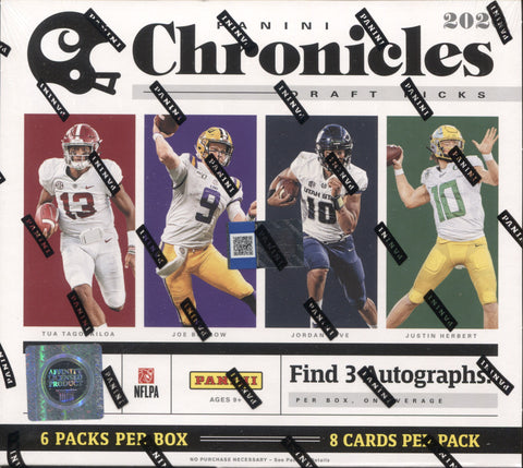 2020 Panini Chronicles Draft Hobby Football, Box