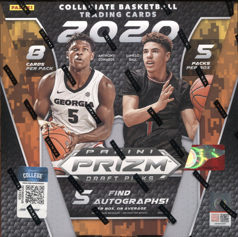2020-21 Panini Prizm Draft Picks Hobby Basketball, Box w/2 PROMO PACKS