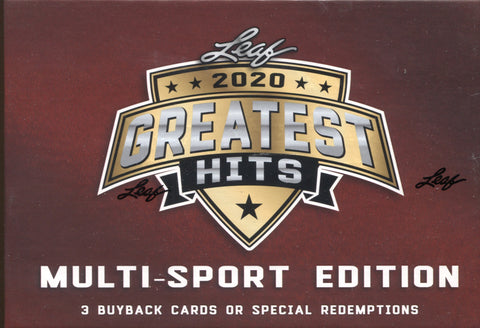 2020 Leaf Greatest Hits Multisport Hobby, Box