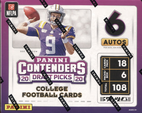 2020 Panini Contenders Draft Picks Hobby Football, Box