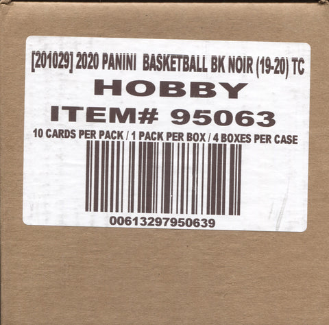 2019-20 Panini Noir Hobby Basketball, Case