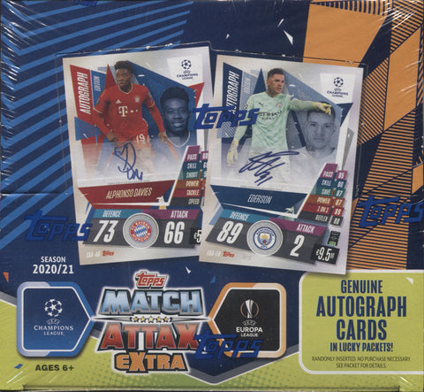 2020-21 Topps Match Attax Extra Soccer, Display Box