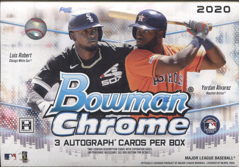2020 Bowman Chrome Jumbo HTA Baseball, Box w/4 PROMO PACKS