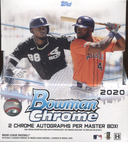 2020 Bowman Chrome Hobby Baseball, Box w/4 PROMO PACKS