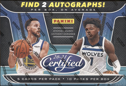 2020-21 Panini Certified Hobby Basketball, Box