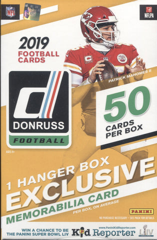 2019 Panini Donruss Hanger Football, Box
