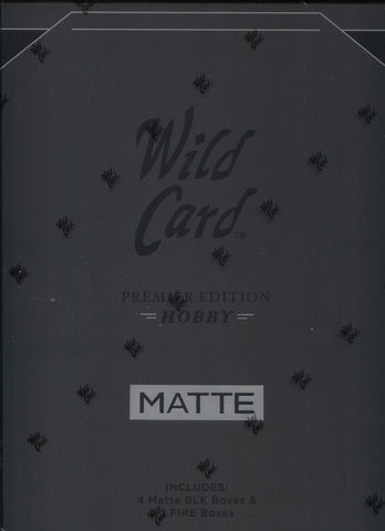2021 Wild Card MATTE Black Hobby Football, Box