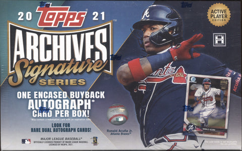 2021 Topps Archives Signature Active Baseball, Box