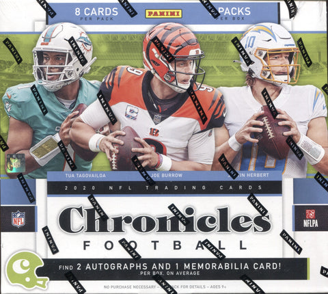 2020 Panini Chronicles Hobby Football, Box