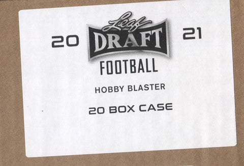 2021 Leaf Draft Football,Hobby 20 Blaster Box Case