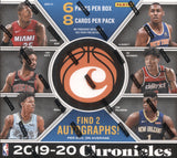 2019-20 Panini Chronicles Hobby Basketball, Box