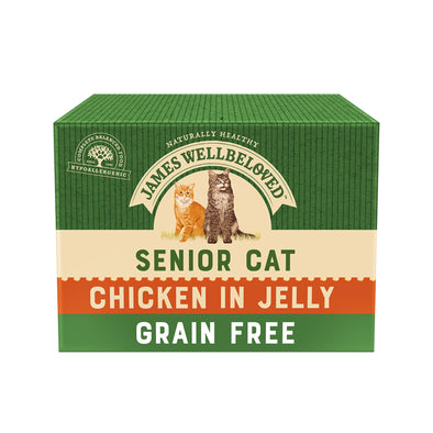 Grain Free Senior Chicken in Jelly Wet Cat Food Pouch