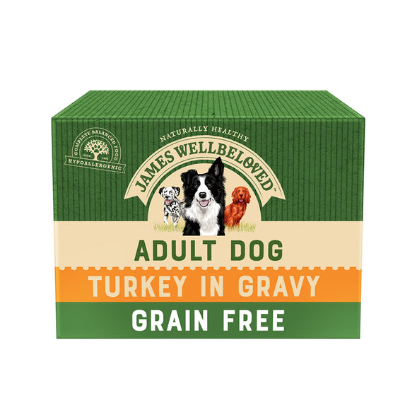 Grain Free Adult Turkey in Gravy Wet Dog Food Pouch