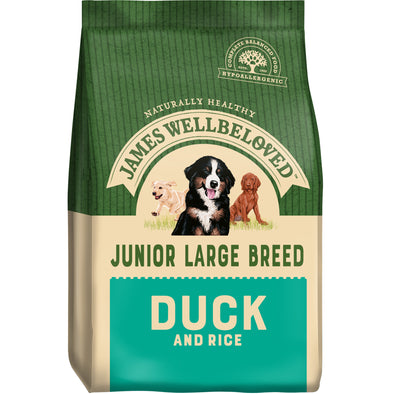 Junior Large Breed Duck & Rice Dry Dog Food