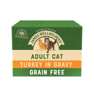 Grain Free Adult Turkey in Gravy Wet Cat Food Pouch