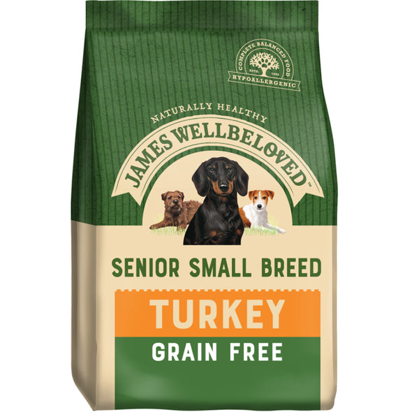 Grain Free Senior Small Breed Turkey & Veg Dry Dog Food