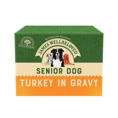 Senior Turkey in Gravy Wet Dog Food Pouch