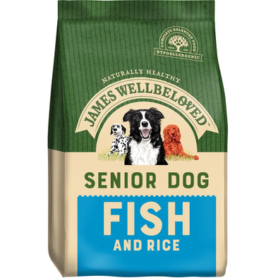 Senior Fish & Rice Dry Dog Food