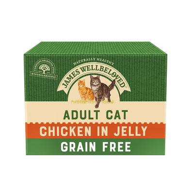 Grain Free Adult Chicken in Jelly Wet Cat Food Pouch
