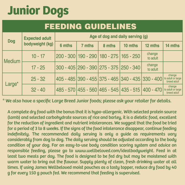 Junior Lamb & Rice Dry Dog Food