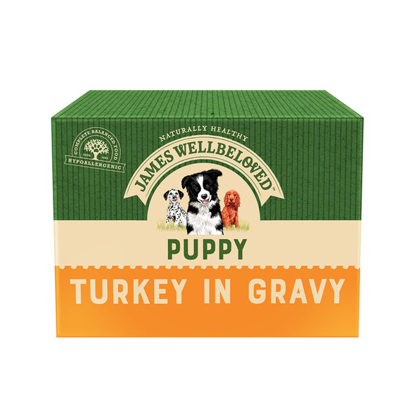 Puppy / Junior Turkey in Gravy Wet Dog Food Pouch - IDB