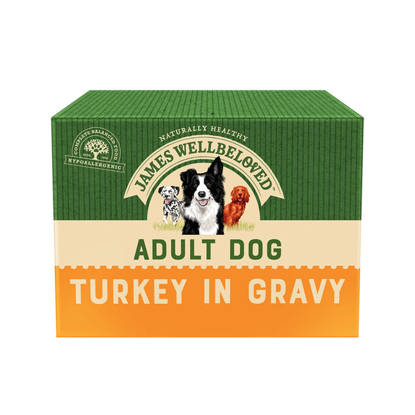 Adult Turkey in Gravy Wet Dog Food Pouch