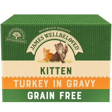 Grain Free Kitten Turkey in Gravy Wet Cat Food Pouch