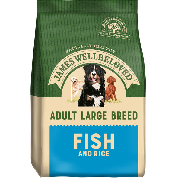 Adult Large Breed Fish & Rice Dry Dog Food