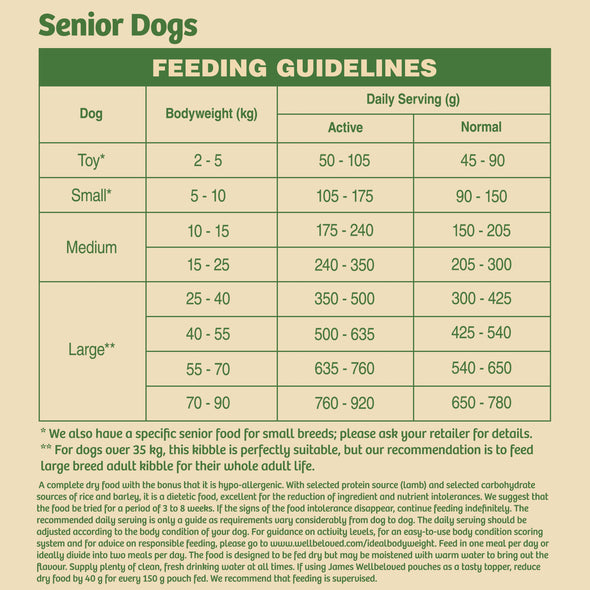 Senior Lamb & Rice Dry Dog Food