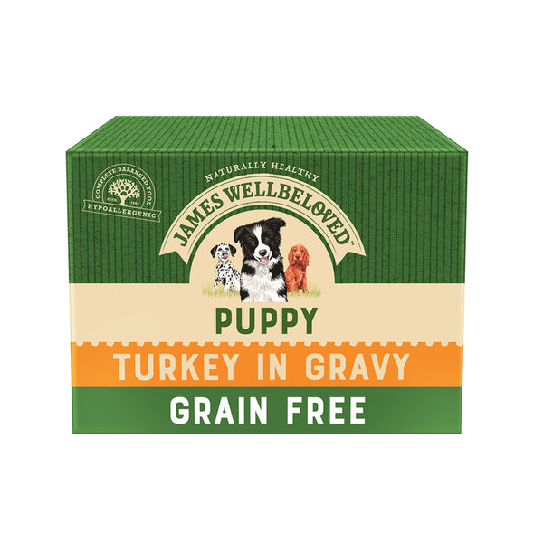 Grain Free Puppy / Junior Turkey in Gravy Wet Dog Food Pouch