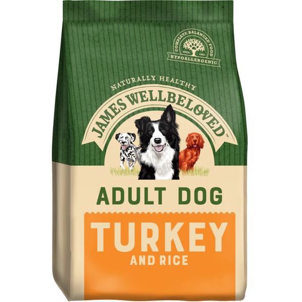 Adult Turkey & Rice Dry Dog Food