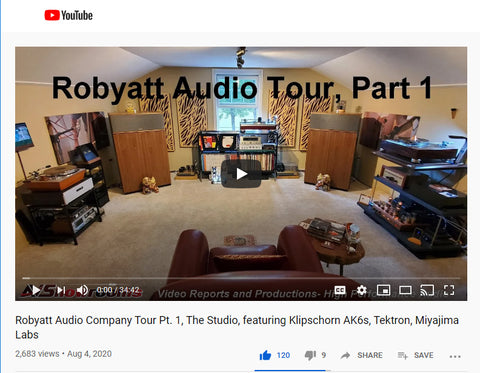 Robyatt Audio features Wax Rax vinyl record furniture in their new hifi listening room.