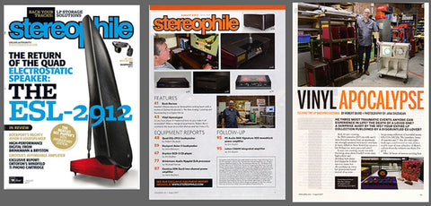 Brooklyn vinyl record storage maker Wax Rax is featured in Stereophile Magazine