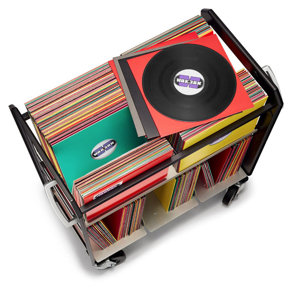 RC2 vinyl record cart by Wax Rax is the worlds best rolling LP cart.
