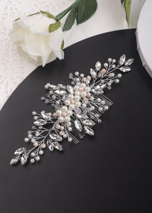 Lily Pearl & Crystal Silver Wedding Hair Comb