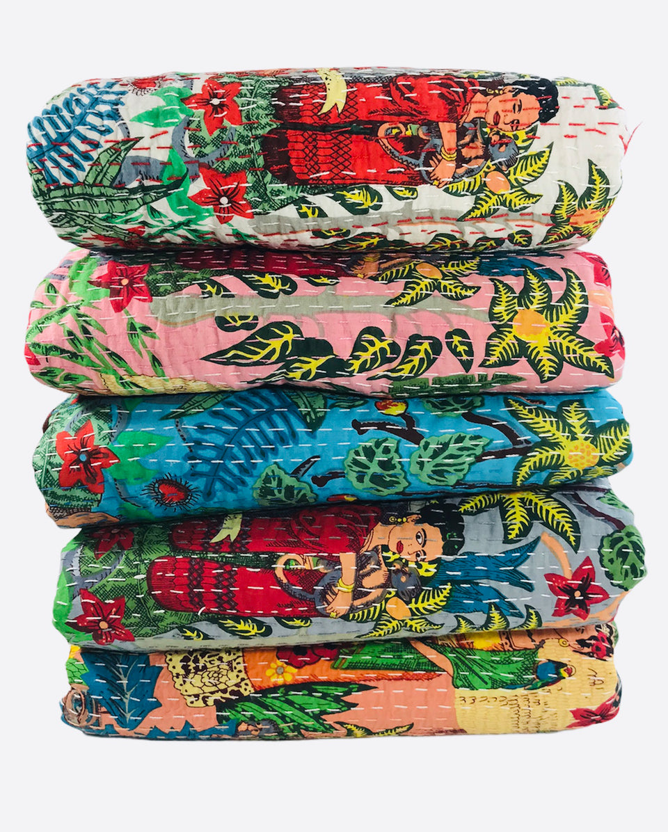 Frida Kahlo Kantha Quilts