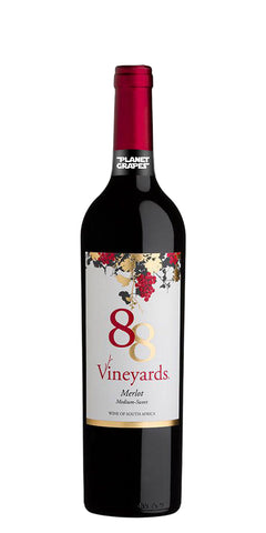 88 Vineyards Merlot Medium Sweet NV 75CL