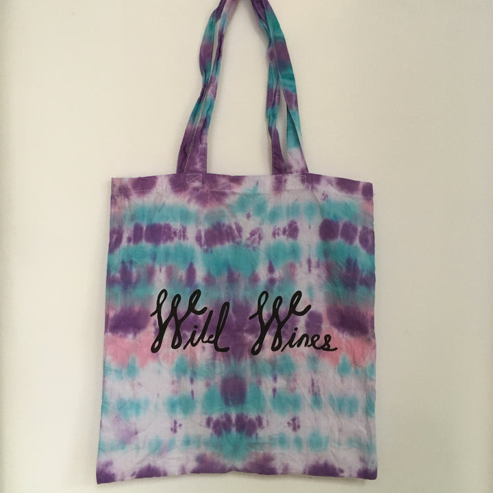 Wild Wines Shopping Tote - Tie Dye #13