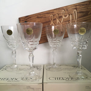 Set of 4 vintage wine glasses