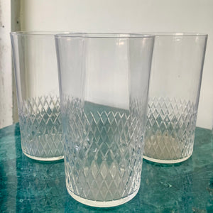 Set of 5 glass cups