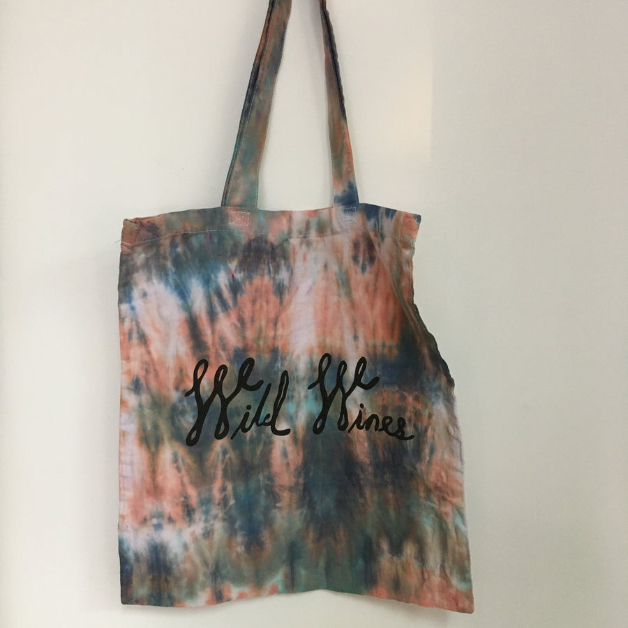 Wild Wines Shopping Tote - Tie Dye #11