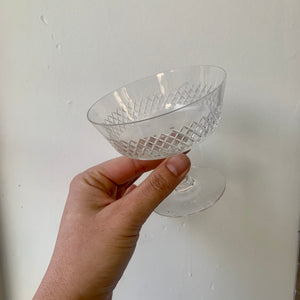 Set of three short stem glasses